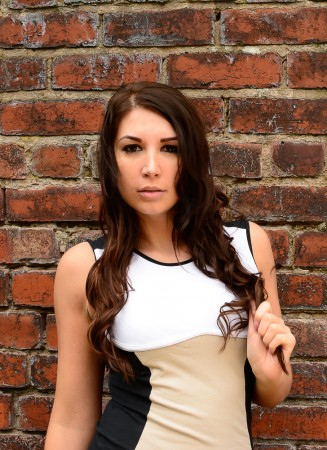A portrait photo shoot I carried out in Manchester mixing an urban setting with a glamour style model