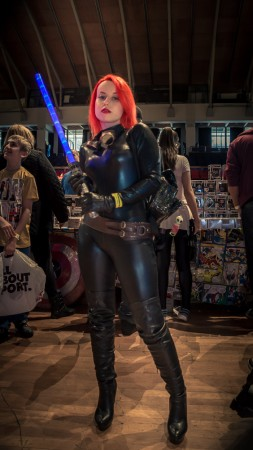 event photography Lancashire - Image of mara jade skywalker cosplay character at preston comicon